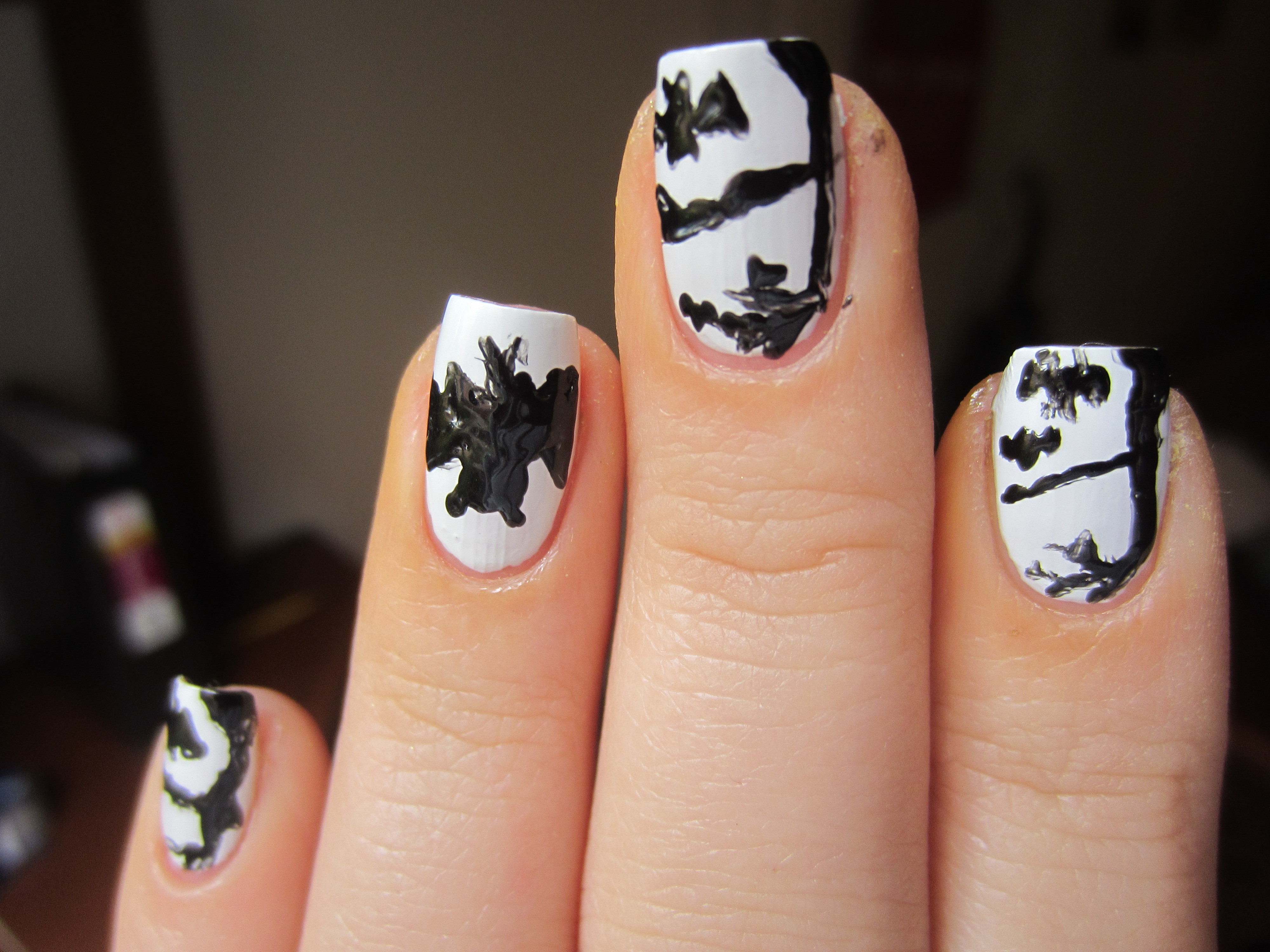 This Is Halloween Nail Art Challenge Bats Misshollyberries