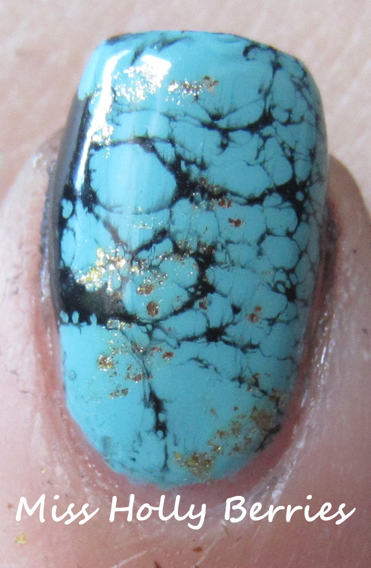 Turquoise Stone Nails! | misshollyberries